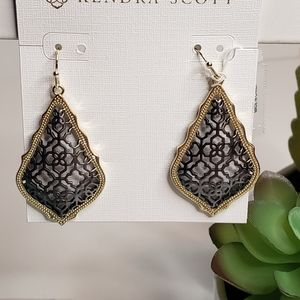 Kendra Scott Addie Earrings Gold & Gunmetal